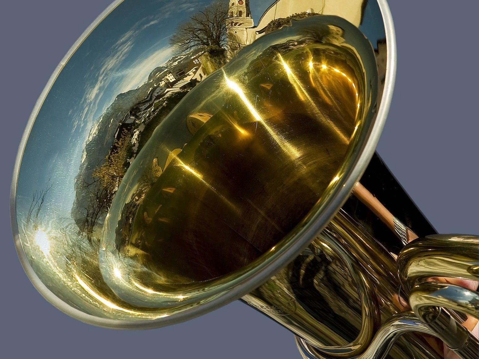 Die Tuba von Karl Huber, deren Töne in der Kulturnacht erklingen.