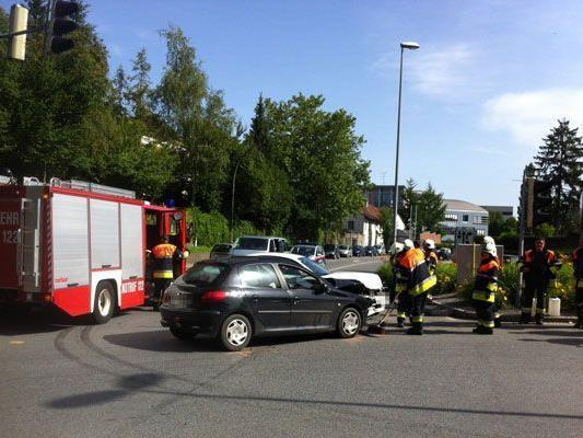 Zwei Verletzte forderte heute ein Unfall in Bregenz.