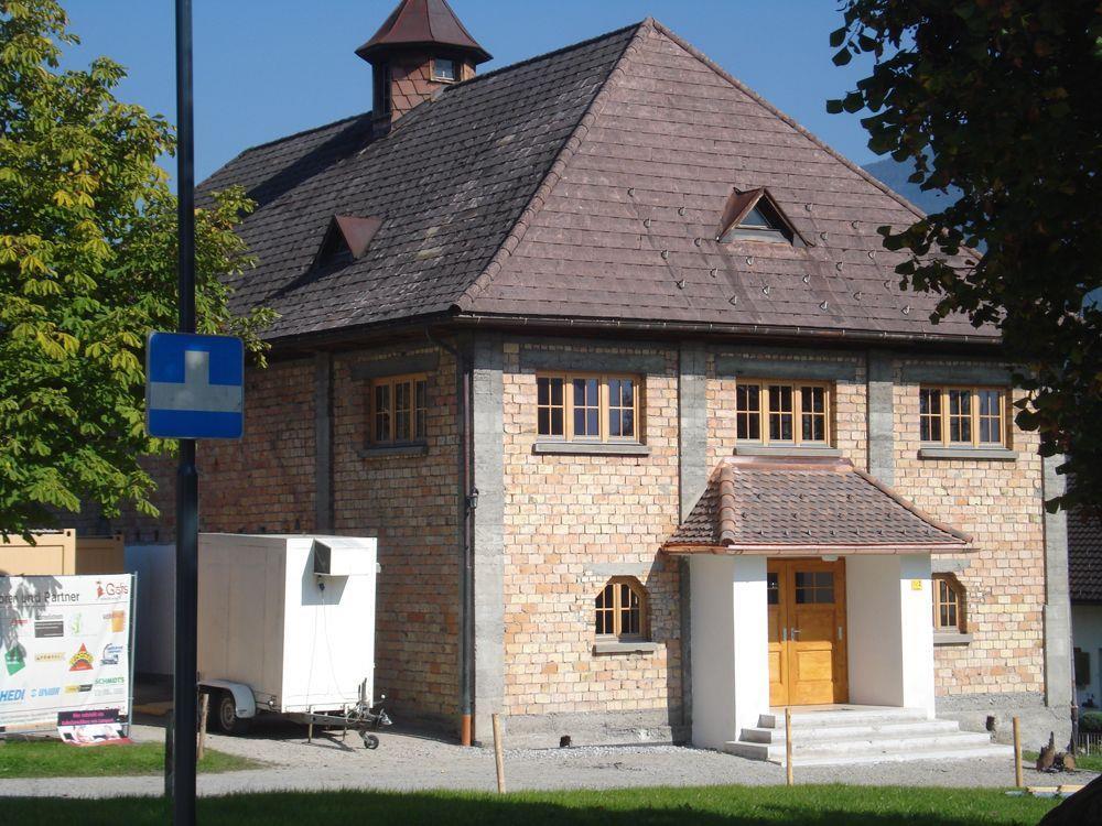 Das neue Vereinshaus in Göfis