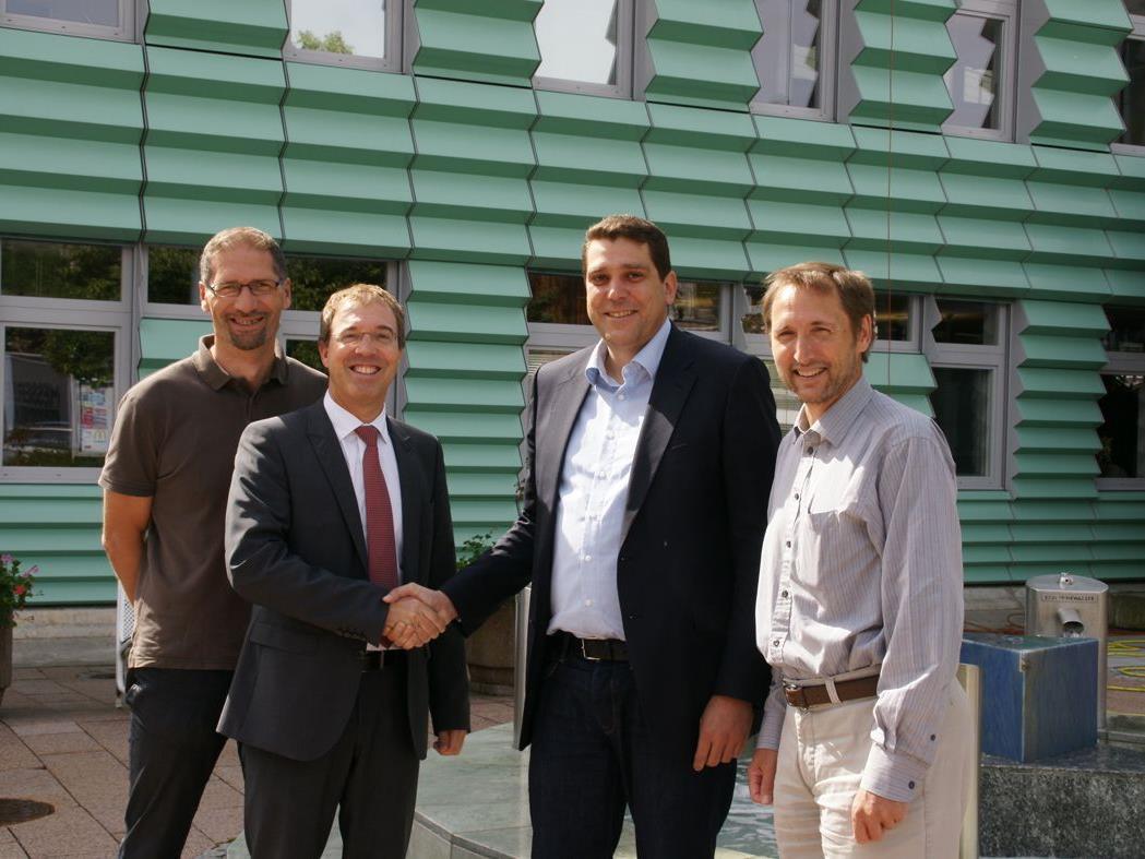 GR Peter Bildstein, Bgm. Harald Köhlmeier, Gernot Uecker,  Markus Lerchenmüller (Finanzabteilung)