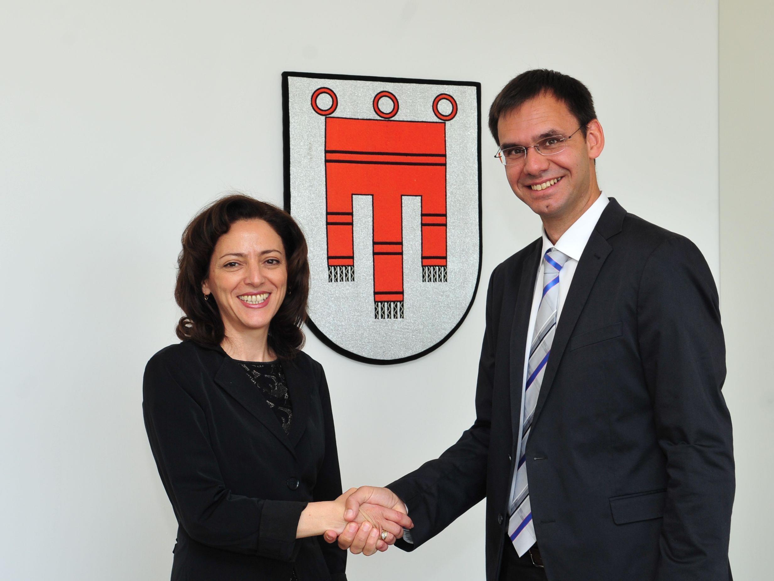 LH Markus Wallner begrüßte im Landhaus die bulgarische Botschafterin Elena Shekerletova
