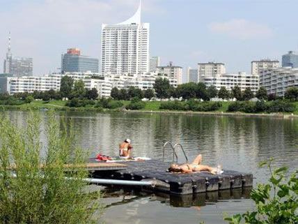 Die Donauinsel lädt auch heuer wieder zum Badevergnügen.