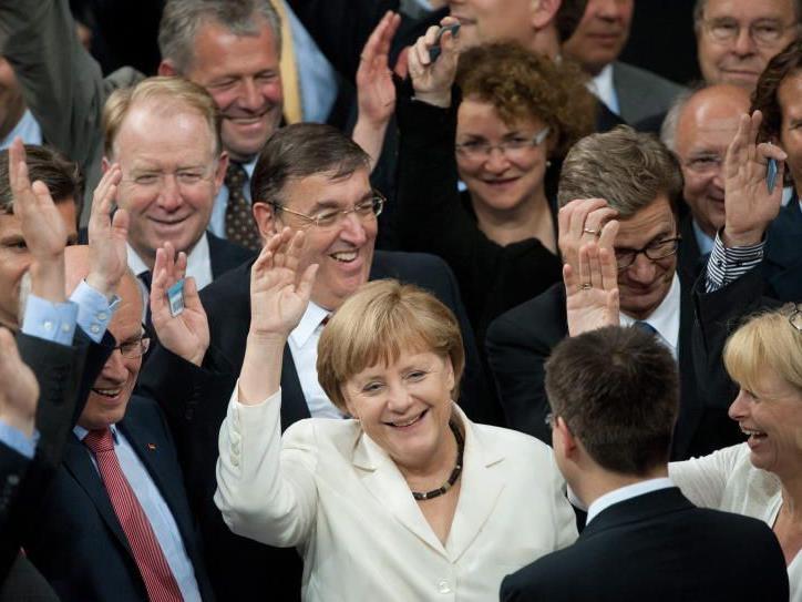 Kanzlerin Merkel darf sich freuen.