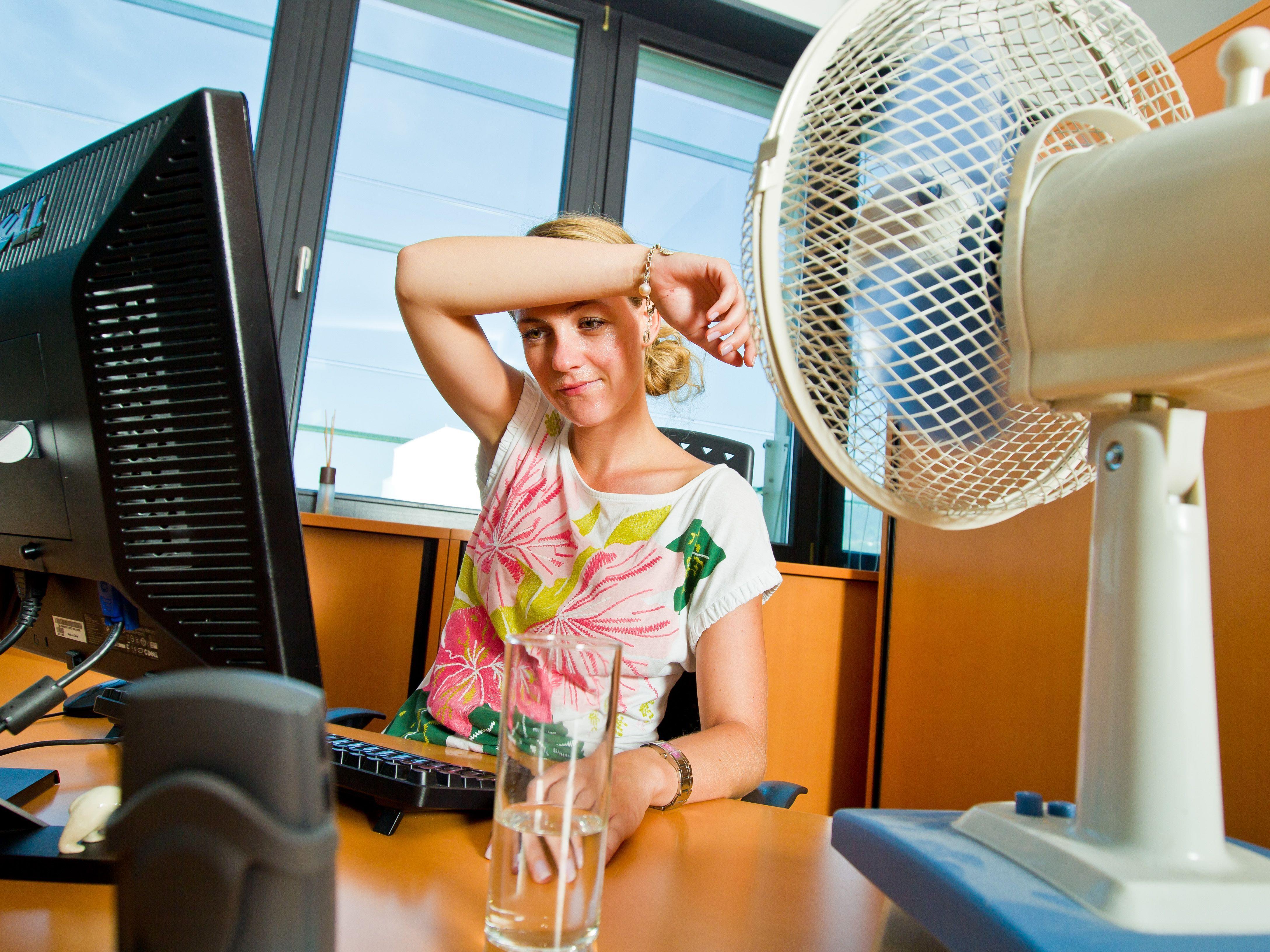 Die Hitze macht vielen Menschen zu schaffen, vor allem bei der Arbeit.
