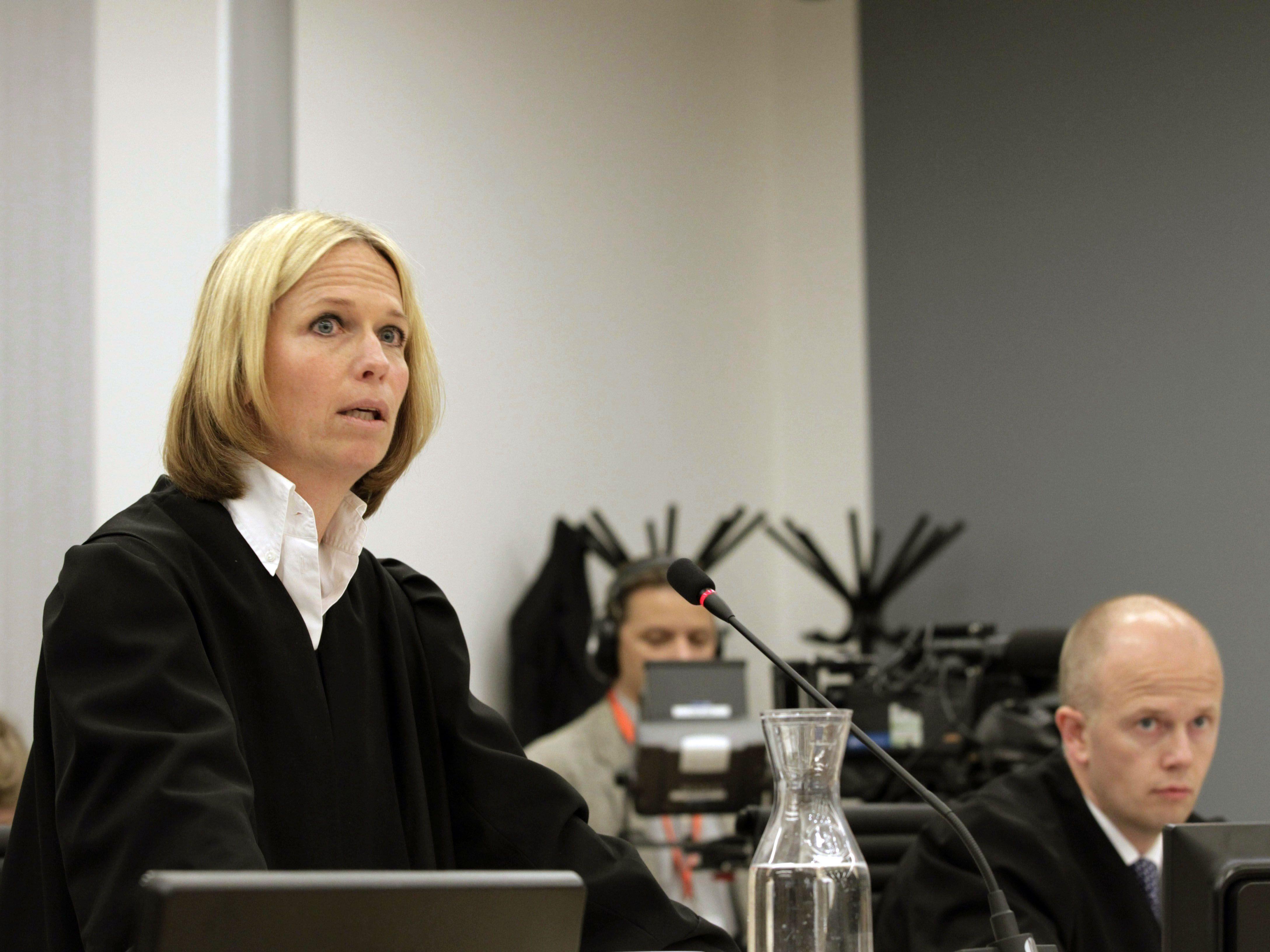 """Staatsanwältin Inga Bejer Engh sprach in ihrem Schlussplädoyer von einem """"nationalen Trauma""""."""