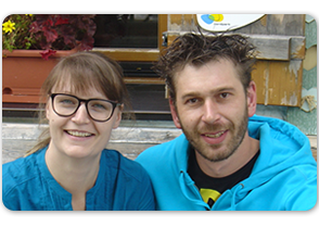 Iris und Simon Bock aus Tirol sind die neuen Wirtsleute auf der Heinrich Hueter Hütte