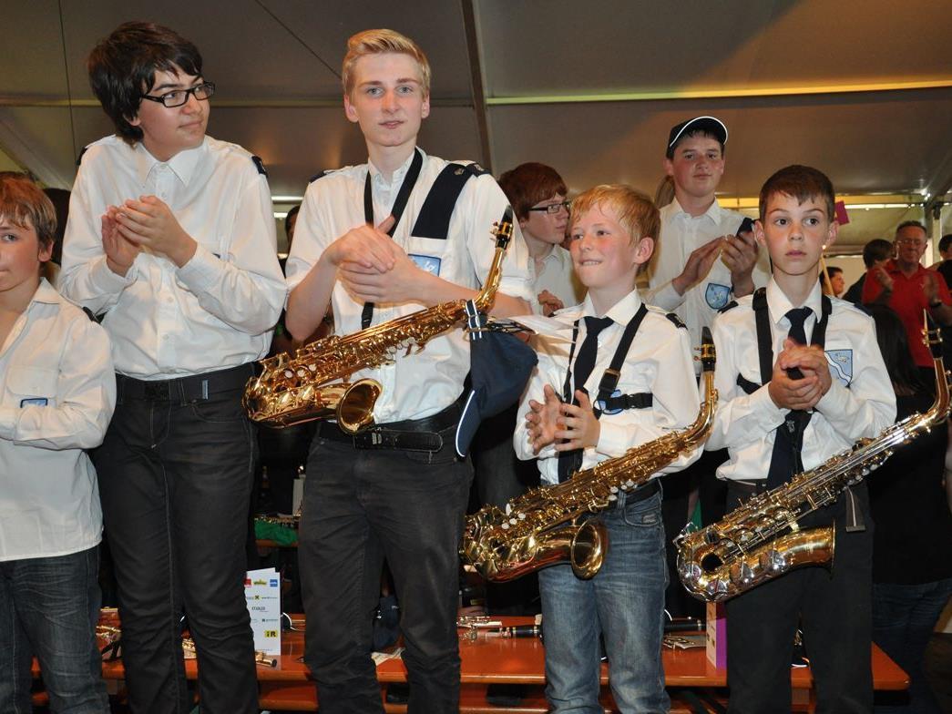 Trotz Hitze voll motiviert zeigten sich die jungen Musikantinnen und Musikanten am Jugendtag.