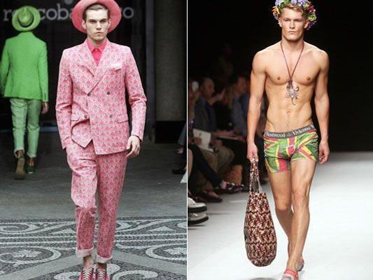 Der Mann soll mit seiner Mode Optimismus ausstrahlen - Designer wollen von Krise nichts wissen.