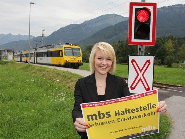 Schienenersatzverkehr auf der Bahnlinie zwischen Schruns und Bludenz in der Nacht auf Freitag, 22. Juni.