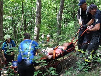 Der Kletterer konnte von den Helfern geborgen werden.