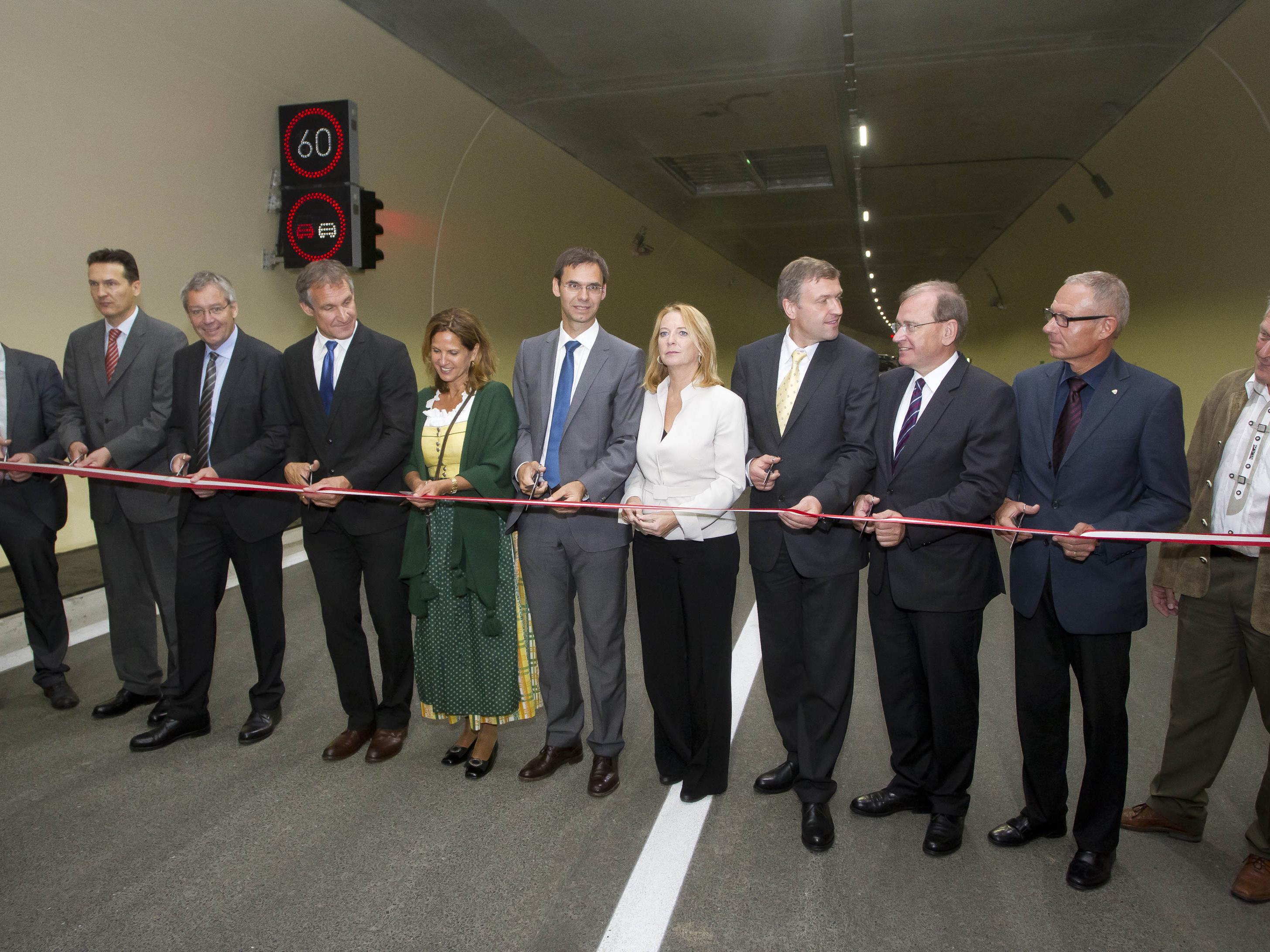 Die Pfändertunnel-Röhre wurde am Montag feierlich eröffnet.