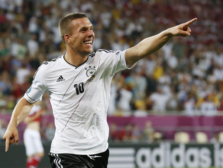 Deutschland-Tore durch Podolski und L. Bender