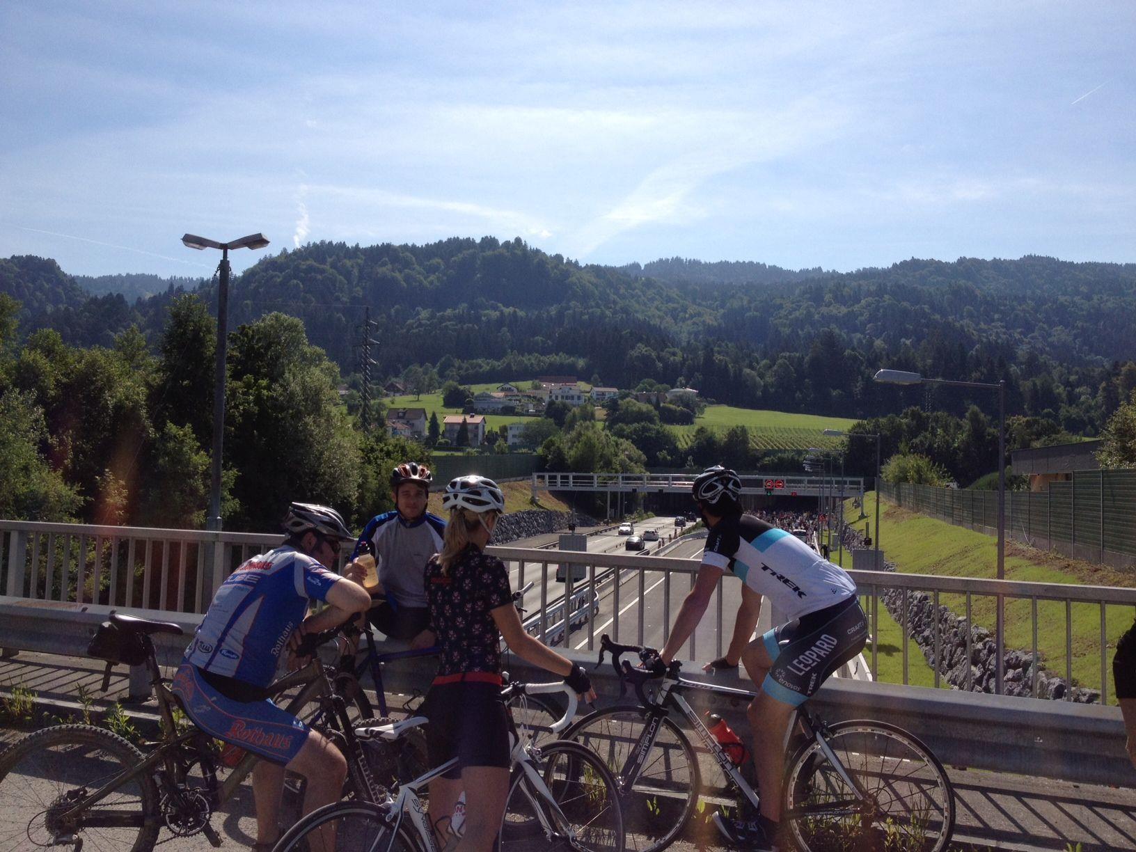 Radtour durch den Pfändertunnel findet am Sonntag statt.