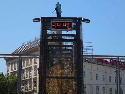 Die Temperaturen am Samstag hatten es in sich in Wien.