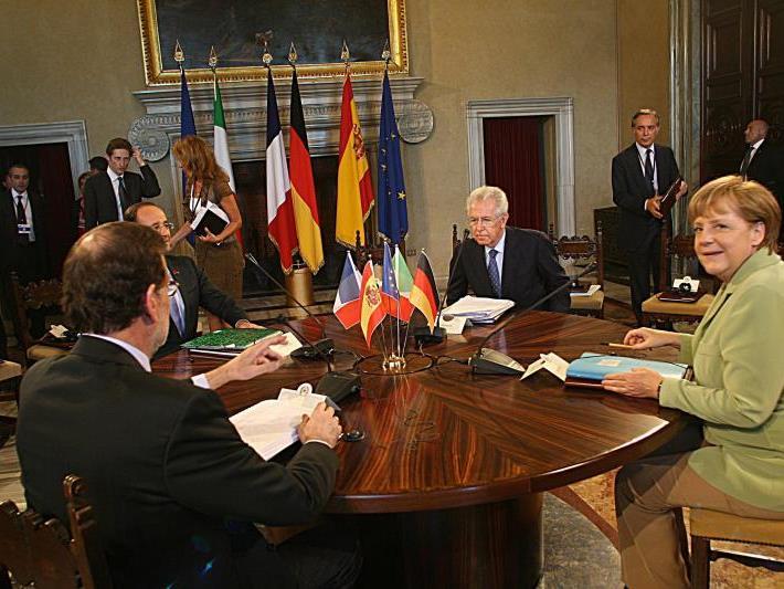 Staats- und Regierungschefs von Deutschland, Frankreich, Italien und Spanien.