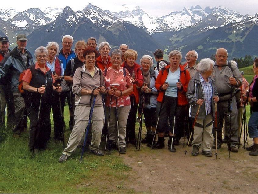 Seniorenrunde Rankweil auf Wanderschaft.