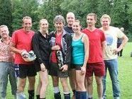 Das Siegerteam vom Freiluftmixed Turnier 2011: Die Kängurus