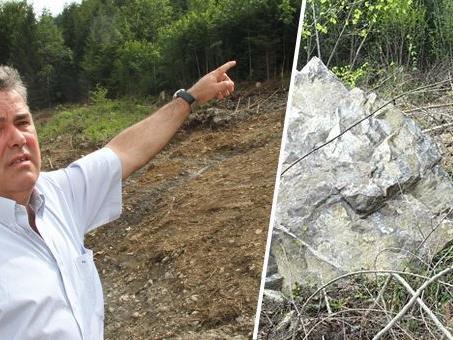 20 Tonnen schwerer Gesteinsbrocken löste sich im Frühjahr.