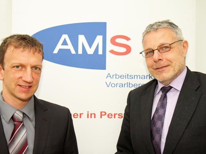 Landesgeschäftsführer Anton Strini (r.) und sein Stellvertreter Bernhard Bereuter (l.) wurden am Dienstag wiederbestellt.