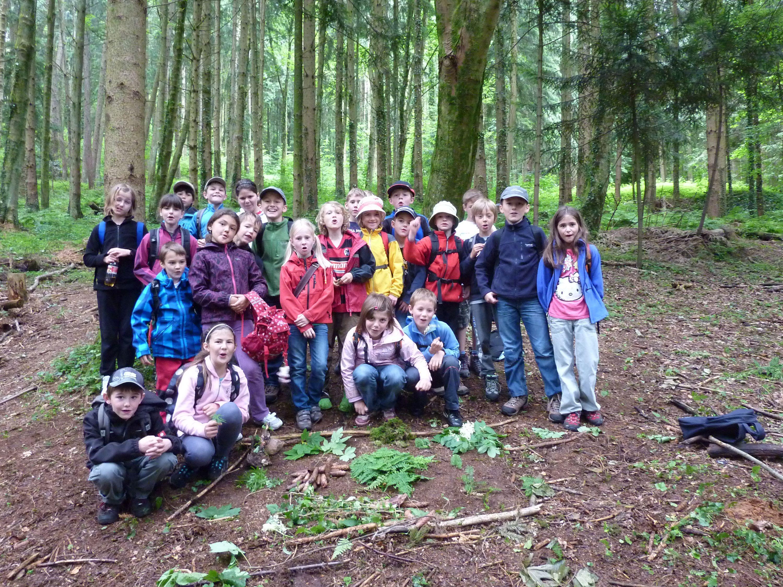 Schülerinnen und Schüler der Waldschule Bodensee