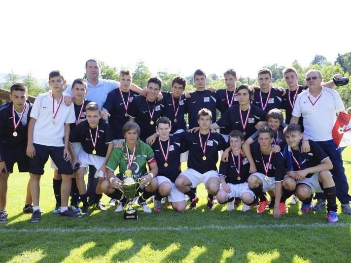 Die Unter-13-Mannschaft von SC Bregenz wurde ungeschlagen Landesmeister.