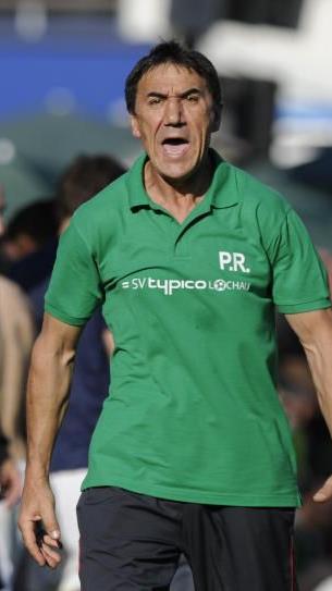 Riesenenttäuschung beim SV Lochau-Trainer Rade Plakalovic nach dem 1:3 in Lauterach.