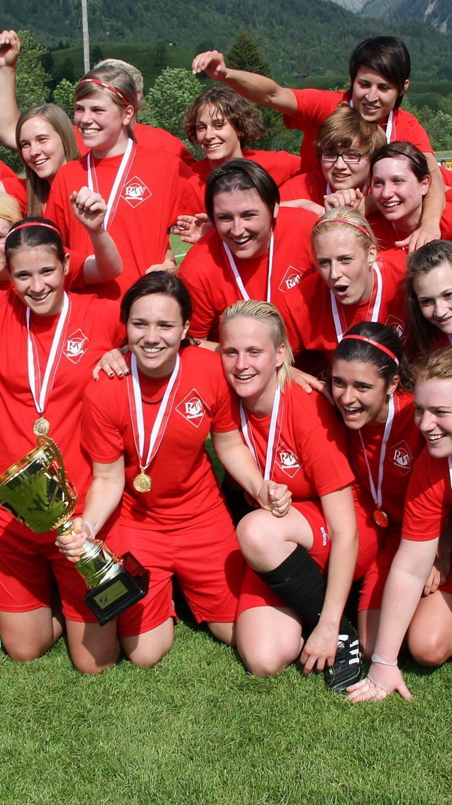 Die FC RW Rankweil Damenmannschaft schafft das Double.