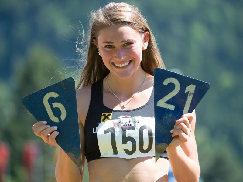 Die Bludenzerin Rosalie Tschann sprang 6,21 Meter und stellte einen neuen Landesrekord auf.