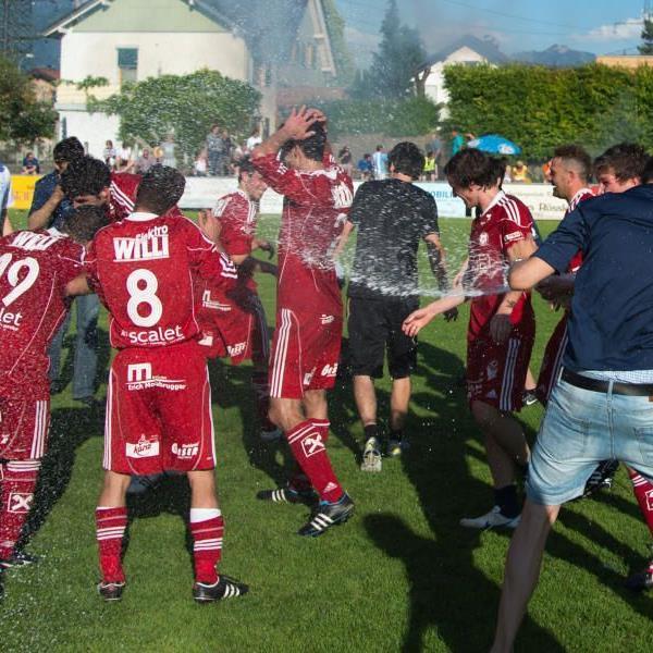 FC Andelsbuch feierte den ersten Vorarlbergliga-Meistertitel.