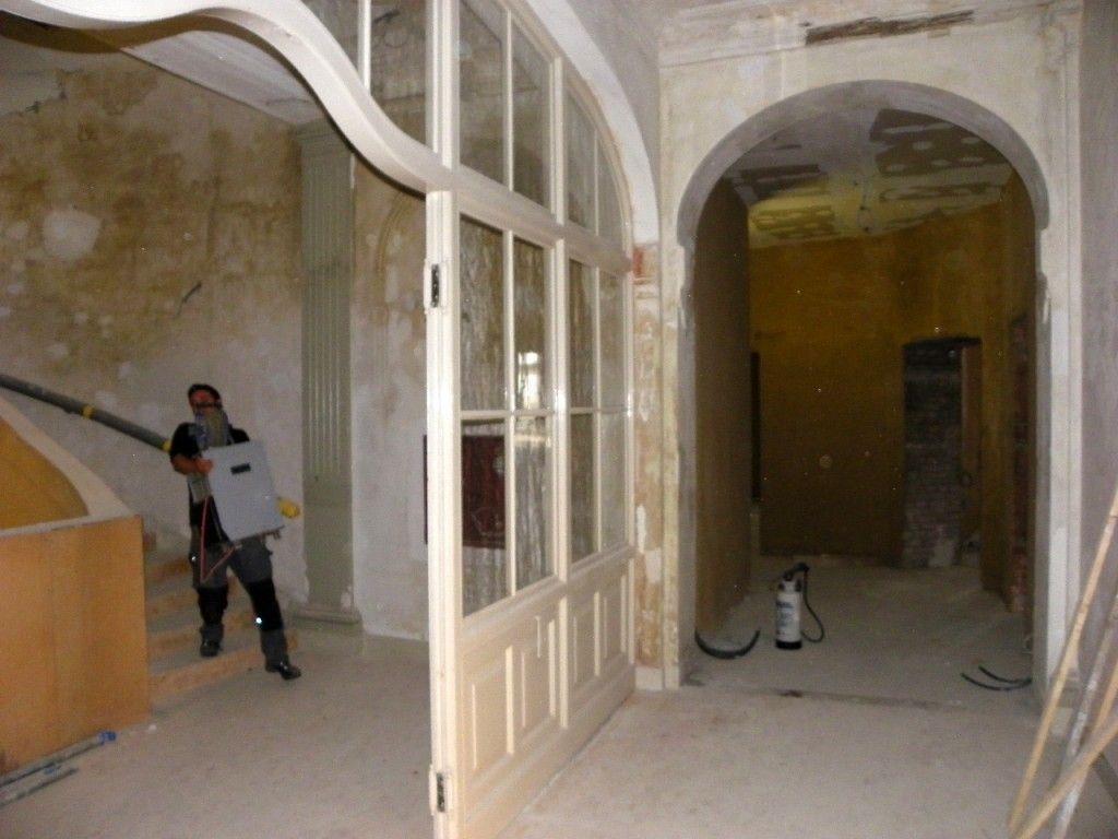Die Innenausstattung ist schon weitgehend saniert