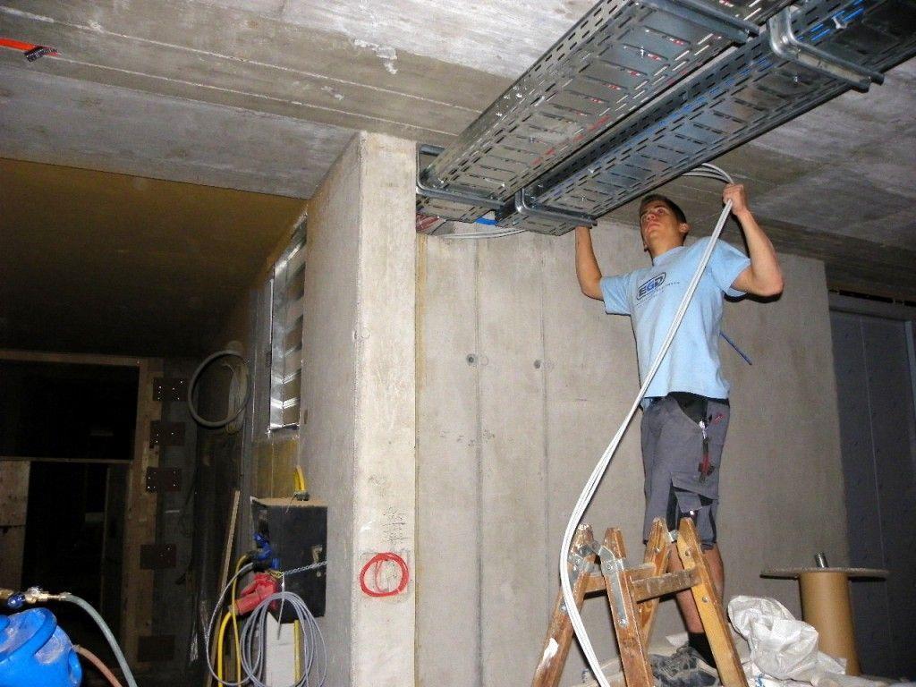 Aufwändige Installationsarbeiten
