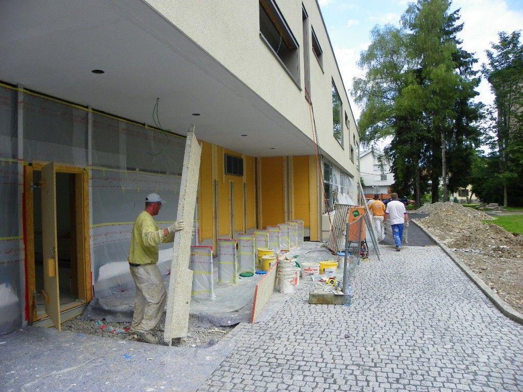 Fassade wird fertiggestellt