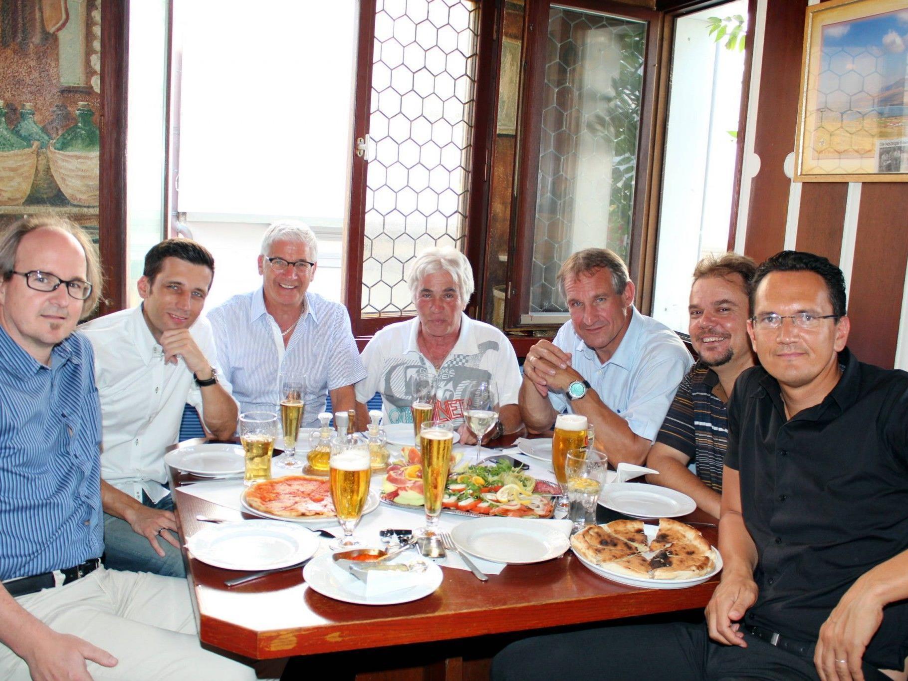 Das erfolgreiche Vorstandsteam mit Bgm. Markus Linhart