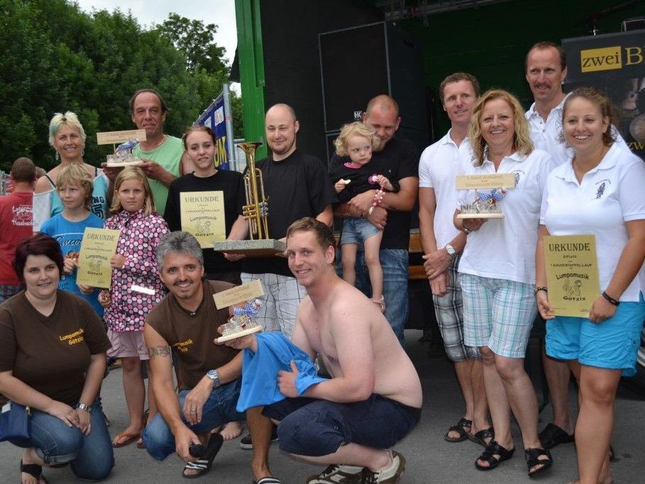 Die Gewinner des Gaudistaffellaufes