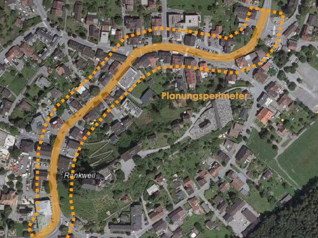 Geplant ist die Neugestaltung der Ringstraße vom Vinomnaplatz bis zur Alemannenstraße