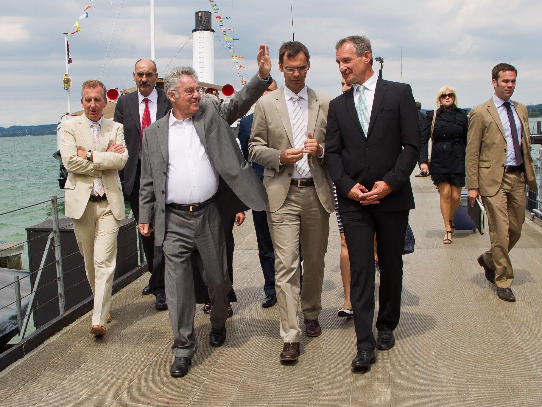 Bundespräsident Heinz Fischer auf Bregenz-Tour.