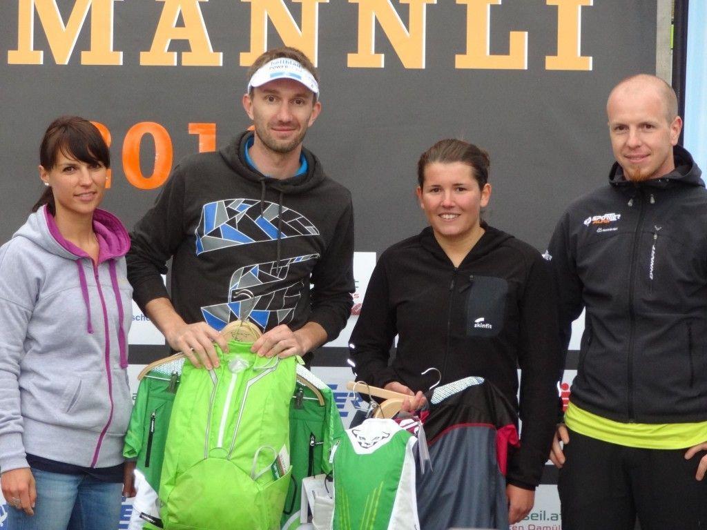 Die strahlenden Sieger des 12. Isamännli in Fontanella/Faschina.