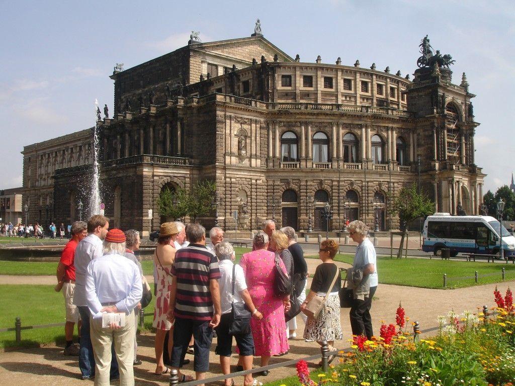 Dresden faszinierte nicht nur mit seinen Bauwerken ....