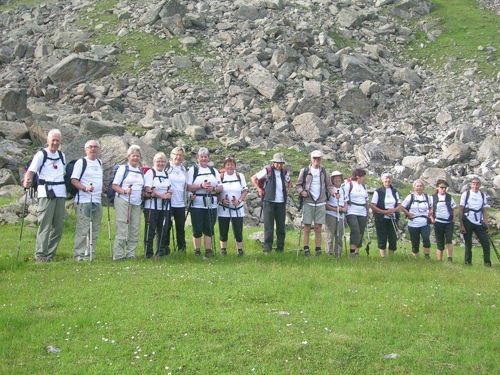 Der Alpenverein Nenzing bei der Jubiläumstour  des ÖAV