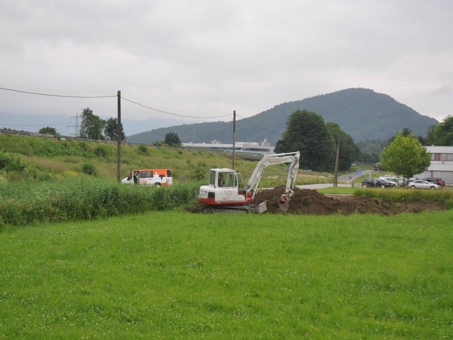 Baubeginn beim Autobahn Vollanschlauss Klaus / Koblach.