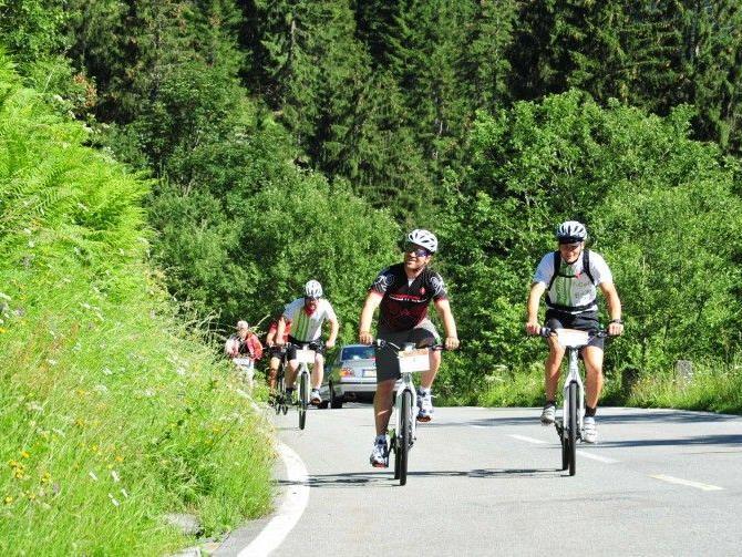 Die Silvretta Hochalpenstraße bot den E-Bikern ein phantastisches Panorama.