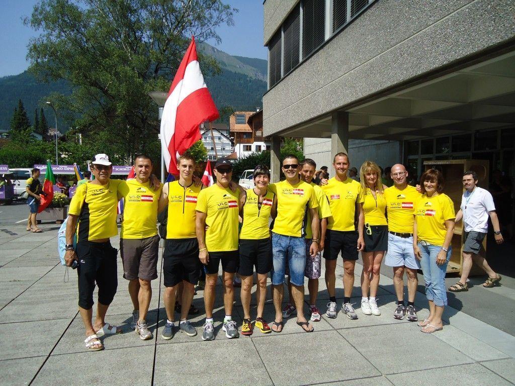 ULC Läufer beim Empfang der Nationen biem Rathaus Bludenz