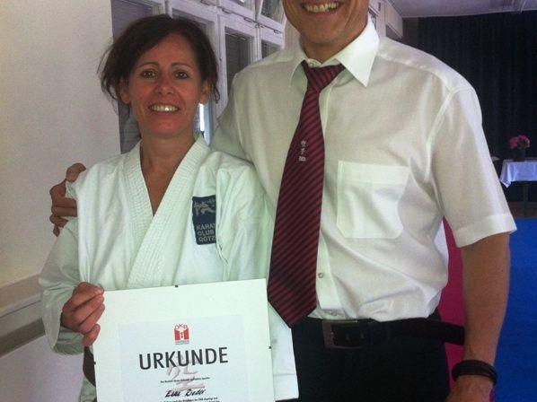Elke Rieder mit Trainer Günter Marte