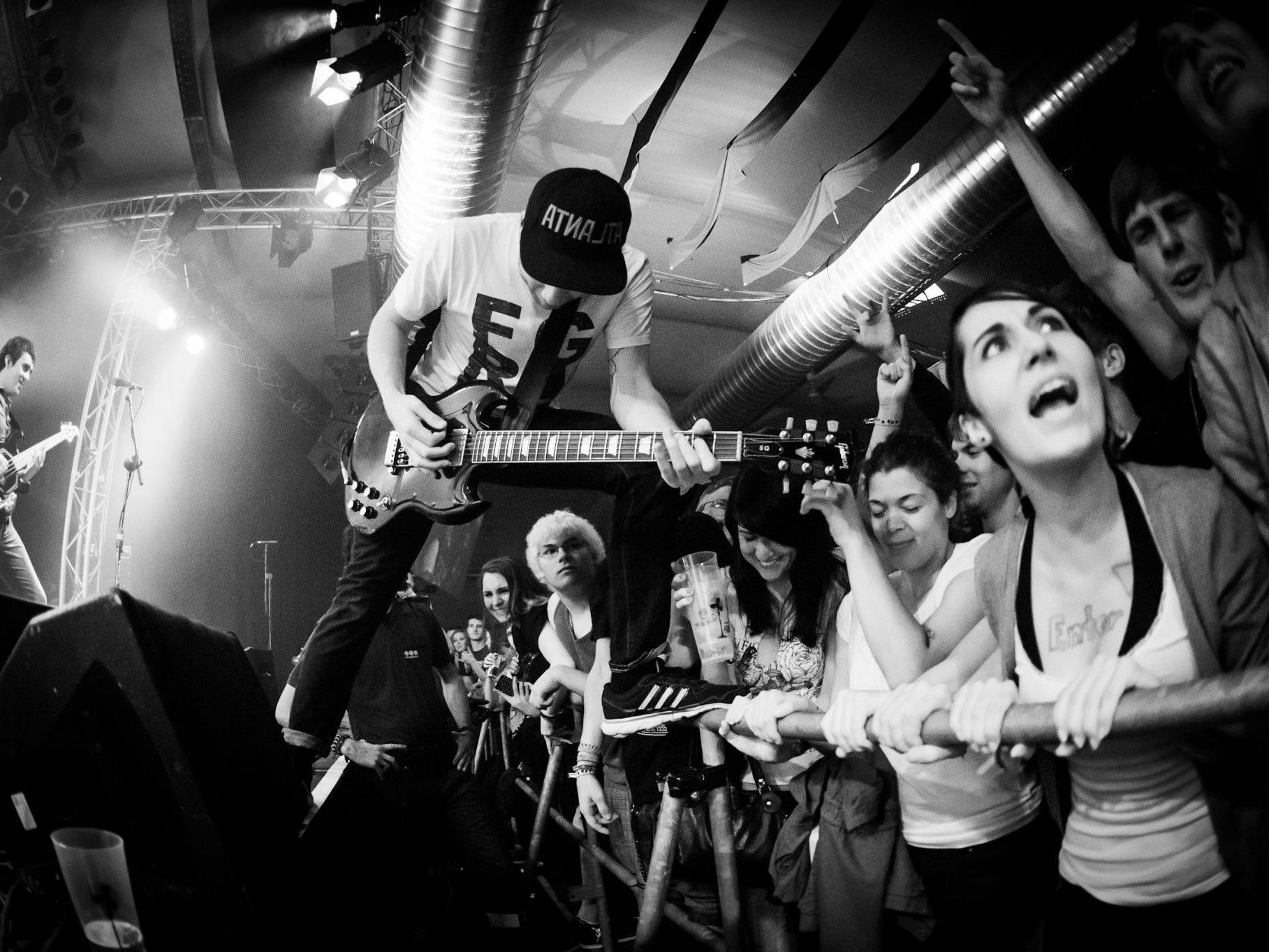 Enter Shikari live on stage.