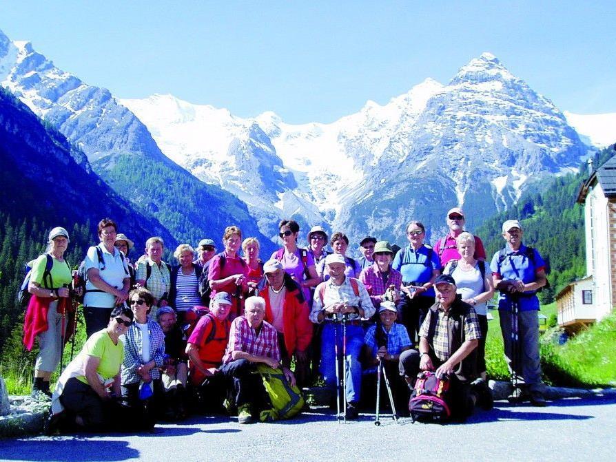 Die Seniorenbund-Wandergruppe im Vintschgau