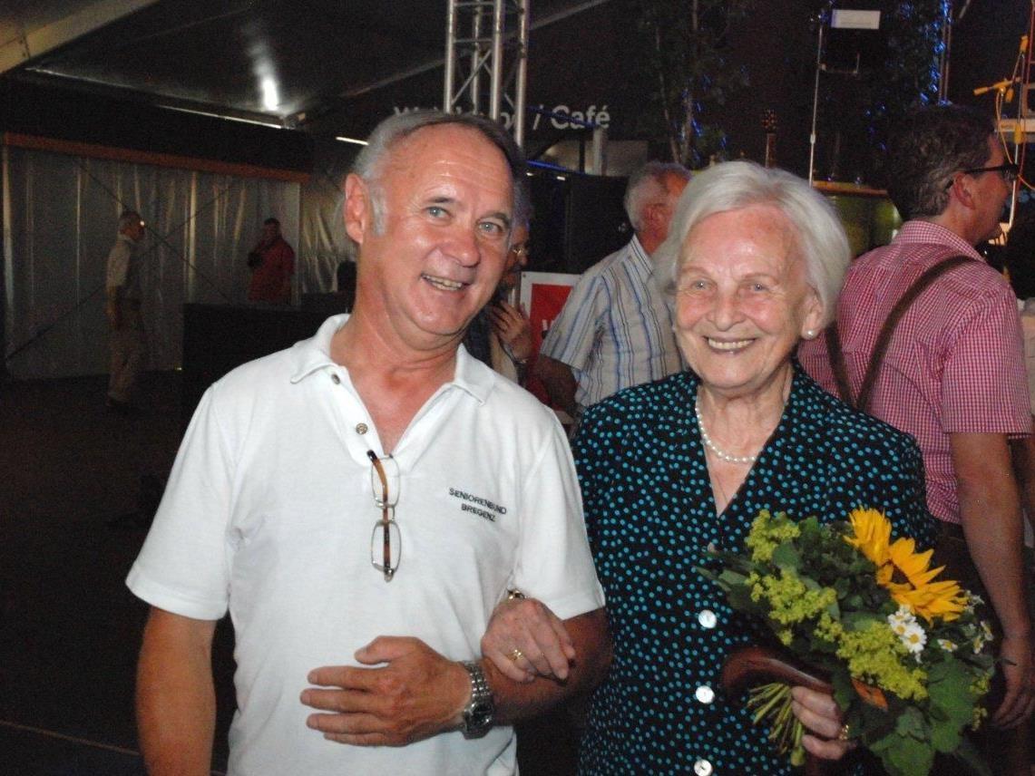 Obmann Hans Lederer mit Frau Erne