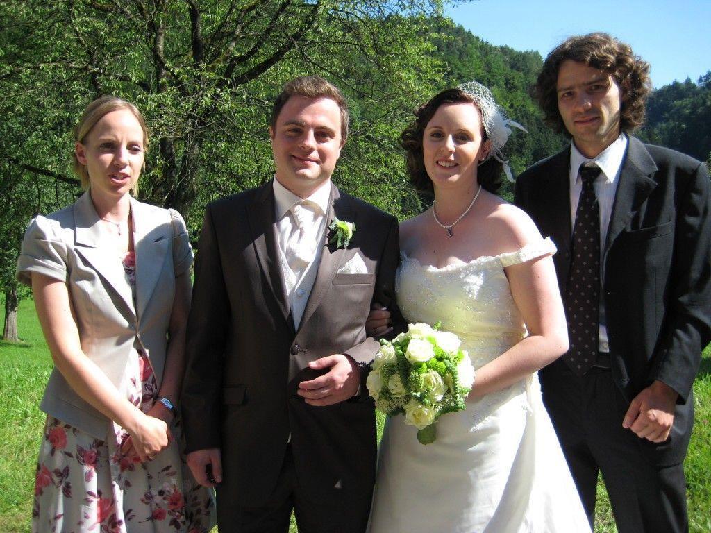 Jennifer Gasser und Christian Gantner haben geheiratet.