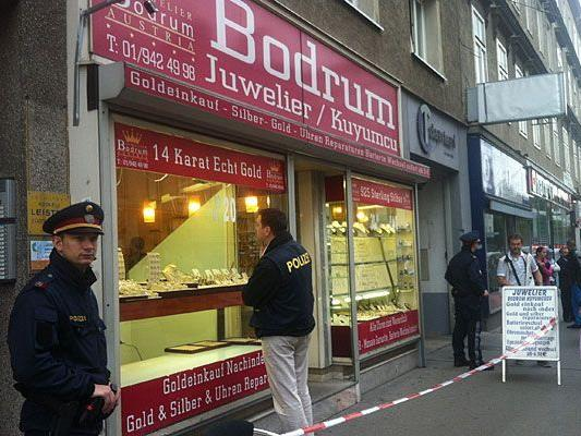 Der Juwelier Bodrum in Wien-Brigittenau wurde überfallen