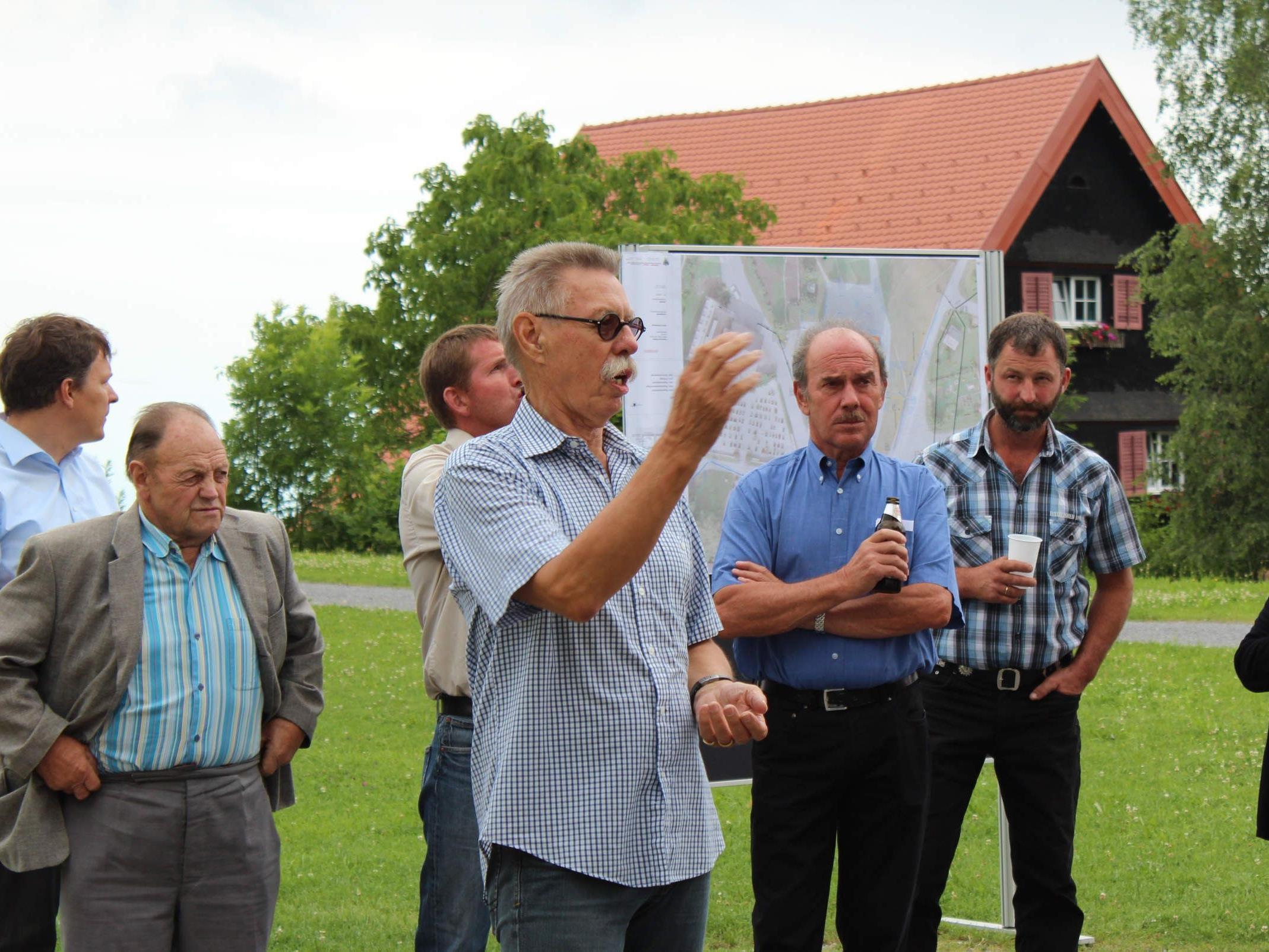 Bauausschuss-Obmann Wilfried Kees informierte über die Baufortschritte.