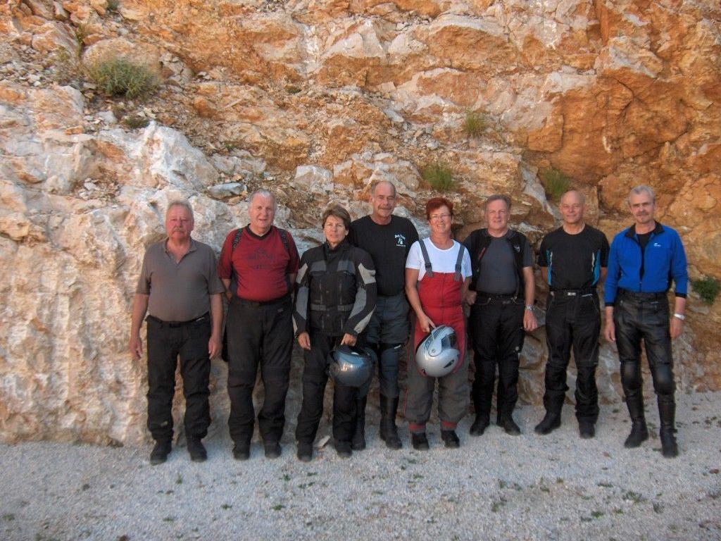 Der erste Urlaub der PVÖ-Biker führte die Gruppe nach Kroatien.